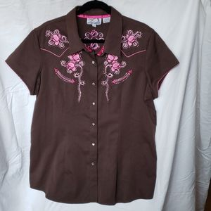 Shirt Western Wear Embroidered